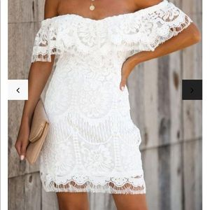 Vici - Always Wanted Lace Off The Shoulder Dress